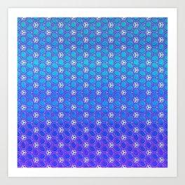 Icedrops Pattern Art Print