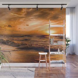 Ocean Sunset Wall Mural