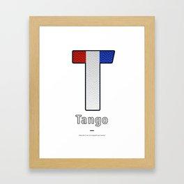Tango - Navy Code Framed Art Print