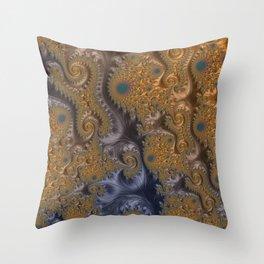 A Taste of Royalty - Fractal Art  Throw Pillow