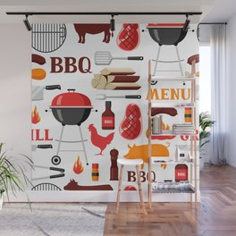 Grilling Season 4th Of July Texas BBQ Print Wall Mural