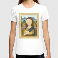 da vinci T-shirts featuring Gioconda by Leonardo Da Vinci by Alapapaju