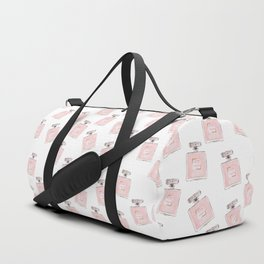 Classic Pink Parfum Pattern Duffle Bag