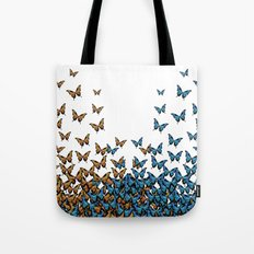 Two Tones Butterfly Tote Bag