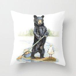 Beach Bandits Throw Pillow