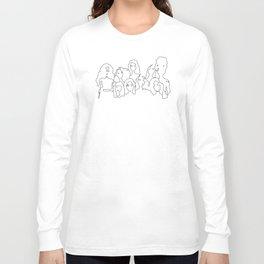 outline girls Long Sleeve T-shirt