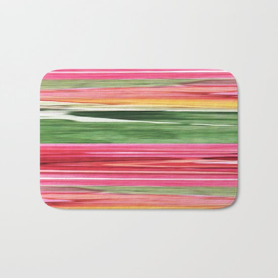 Abstract pattern . The red green . Bath Mat