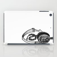 headphones iPad Cases featuring Headphones by ToppArt