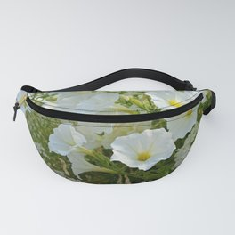 Lovely white petunias Fanny Pack