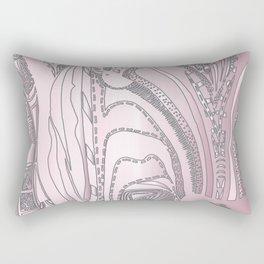 Pink Zebra Rectangular Pillow