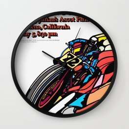 Vintage 70s Californian Race poster Wall Clock