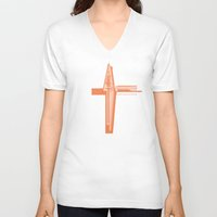 swedish V-neck T-shirts featuring Swedish Vacuum Solar Telescope by Peter Cassidy