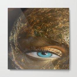 Blue Eyed Gold Metal Print