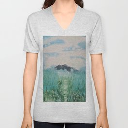 Misty Day - Abstract nature Unisex V-Neck