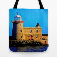 Howth Lighthouse Morning Tote Bag