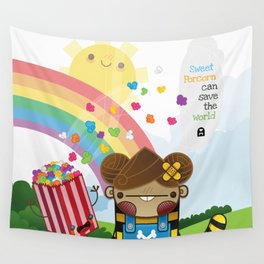 PopCorn can save the world Wall Tapestry
