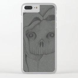 Nightmare Bunny Rabbit Skull Clear iPhone Case
