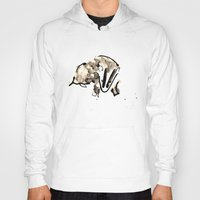 badger Hoodies featuring Badger by Jen Moules
