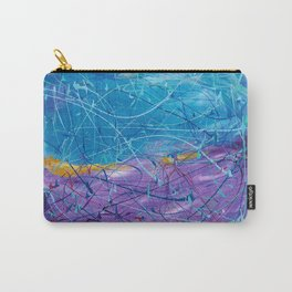 Purple/Blue Abstract Carry-All Pouch