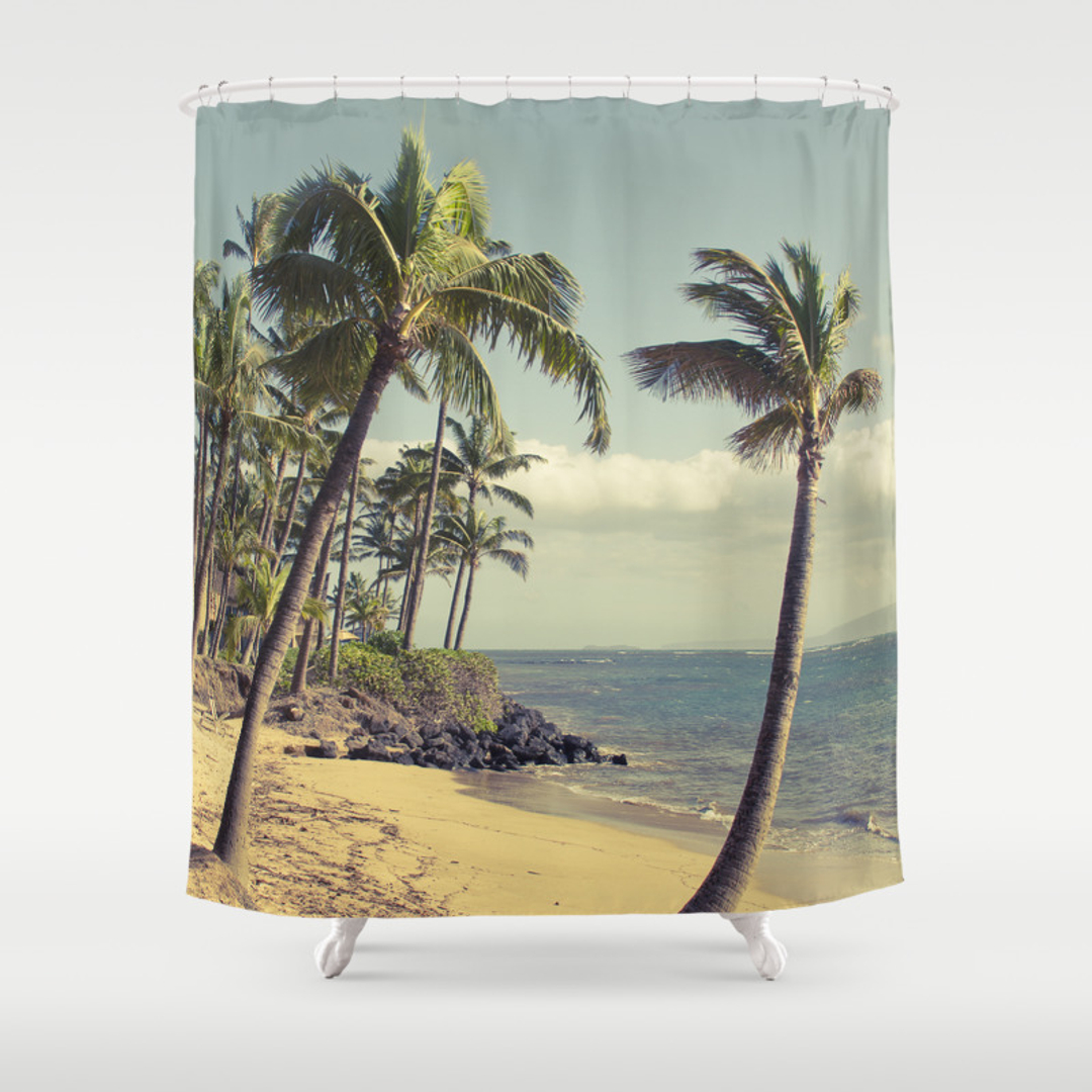 Palm shower curtain - Palm Shower Curtain 46