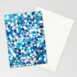 Icy triangles Stationery Cards