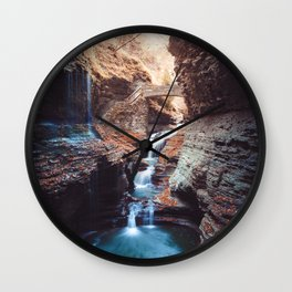 Waterfall at Watkins Glen Wall Clock