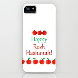 Rosh Hashanah or Jewish Near year greetings with fruit harvests iPhone Case