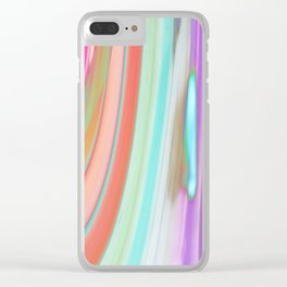 476 - Abstract Colour Design Clear iPhone Case