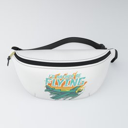 I'd Rather Be Flying Retro Airplane Pilot Aviation Fanny Pack
