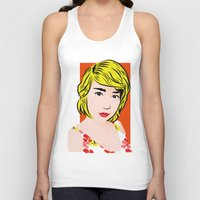 popart Tank Tops featuring popart  by Biansa Naiyananont