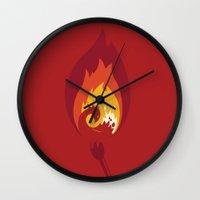 phoenix Wall Clocks featuring Phoenix by Picomodi