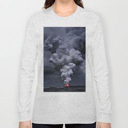 Kilauea Volcano at Kalapana 3e Long Sleeve T-shirt