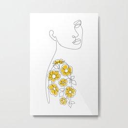 Mustard Sleeve Metal Print