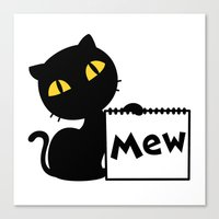 mew Canvas Prints featuring Mew by Tem's House