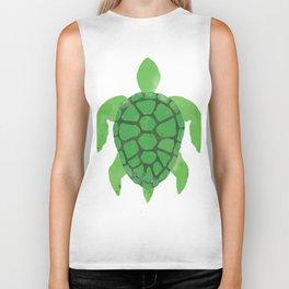 Watercolor Sea Turtle Biker Tank