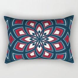 Spiral Rose Pattern D 1/4 Rectangular Pillow