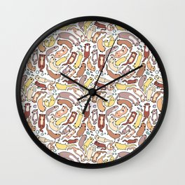 Adorable Otter Swirl Wall Clock