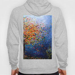 Fall Trees with Leaves Blowing in the Wind by annmariescreations Hoody