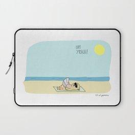 Mochi the pug sunbathing Laptop Sleeve