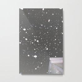 Snowfall Grantville Metal Print