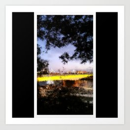 Beautiful Brisbane City - Victoria Bridge Digital Painting Art Print