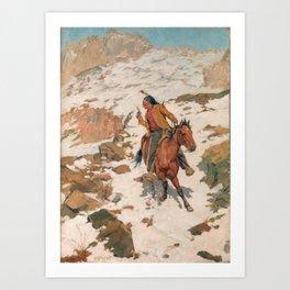 Charles Schreyvogel In Hot Pursuit Art Print