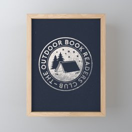 Outdoor Book Readers Club badge Framed Mini Art Print