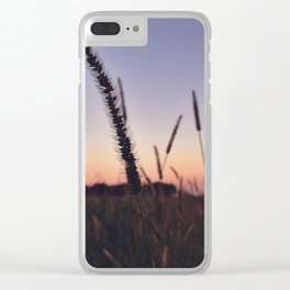 Indiana Sunset - Cattails Clear iPhone Case
