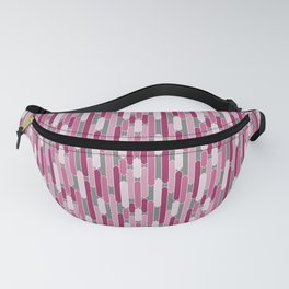 Modern Tabs in Rosy Pinks on Gray Fanny Pack