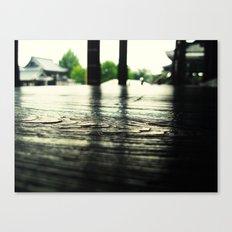 Kyoto Japan Buddhist Temple Wood Floor Macro Texture Canvas Print