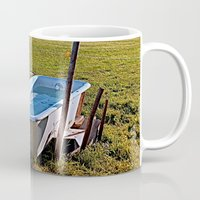 outdoor Mugs featuring Outdoor pool | conceptual photography by Patrick Jobst