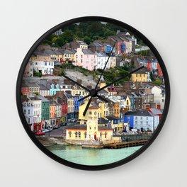 Colorful Cobh Ireland Wall Clock