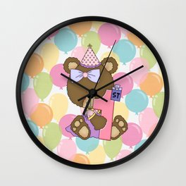Happy 1st Birthday Little Bear Wall Clock