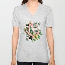 Tropical Flora #society6 #decor #buyart Unisex V-Neck